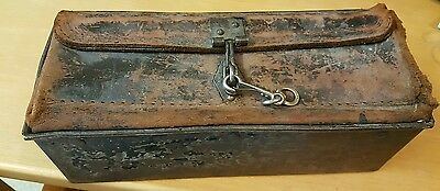 Vintage Metal and Leather tool box