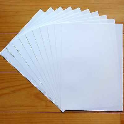 """Premium Blank A4 Paper Inserts 90Gsm 60 Shts For Card Making """"linen White"""" New"""
