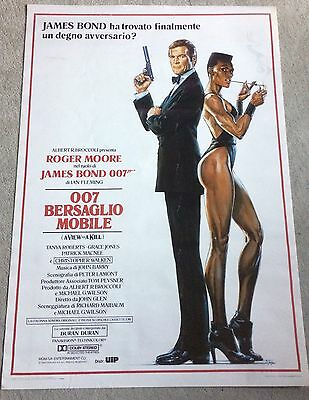 A VIEW TO A KILL James Bond 007 Italian poster AUTHENTIC 1985
