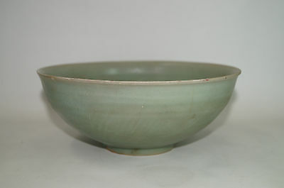 A rare Song - Yuan dynasty longquan celadon large carved washer bowl