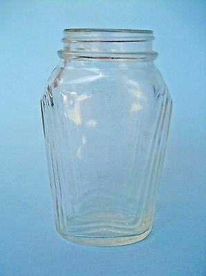 ART DECO GLASS JAR 1930s Jam pickle bottle vintage collectible