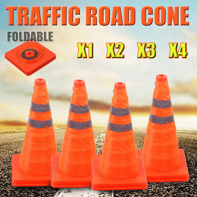 Folding Traffic Road Cone Telescopic Reflective Tape Warning Sign Safety Witches