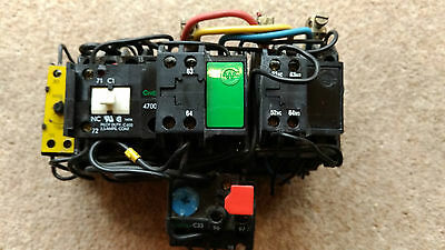 Crabtree 7.5kw 3 phase star delta starter c/w timer and overload 7-12A