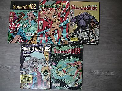 lot comics  étranges aventures et submariner strange lug