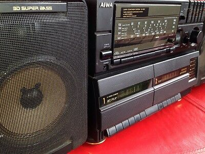 Aiwa CA-W85 4 Band Double Cassette Carry Component System