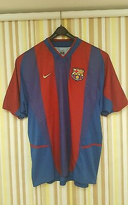 Barcelona Home Shirt 02/03 Size XL perfect condition