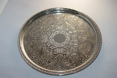 Vintage Ianthe silver plated engraved tray