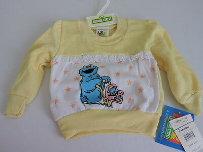 Vintage 1980s JCPenney Sesame Street Shirt NWT 6M Cookie Monster Movie Prop New