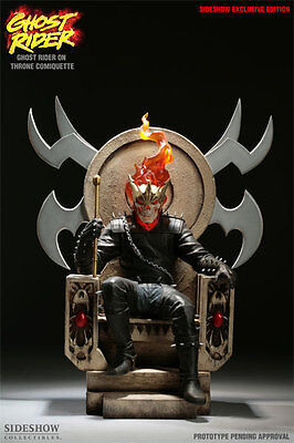 Marvel Maquette Ghost Rider On Throne Exclusive Comiquette Sideshow Collectibles