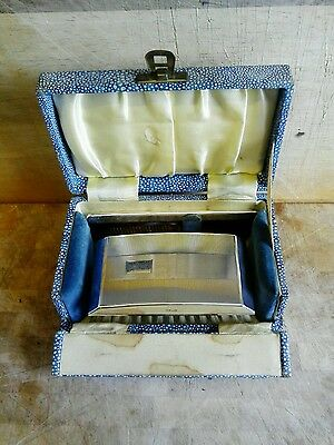 Vintage Boxed Silver plated Comb and Brush Set