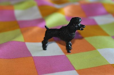 Vintage Topper Dawn BLACK POODLE Dog with LEASH