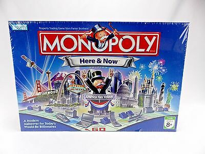 Parker Brothers Monopoly Here And Now Edition Board Game New And Sealed 2006