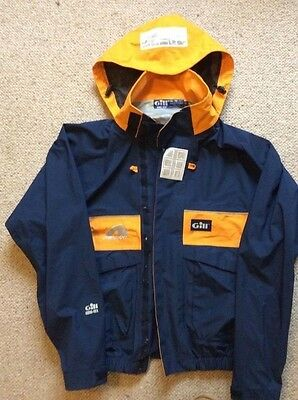 Gill Neilson Gore Tex Adult's waterproof Sailing Jacket (Blue/Amber size small)