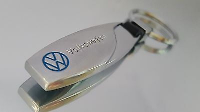 VW Volkswagen Car Logo Metal Keyring key chain Fob with Gift Pouch [S3]