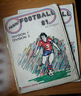 LOT 2 albums PANINI FOOTBALL 81 division 1/2 incomplets (manque 13 images) 1981
