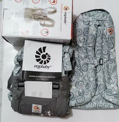 New ERGO Original Baby Carrier Galaxy Grey with Gray Infant Insert..