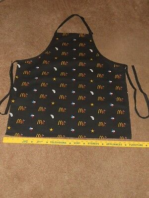 McDonald's Apparel Collection (TEXAS THEME) BLACK APRON UNIFORM Never Used NOS B