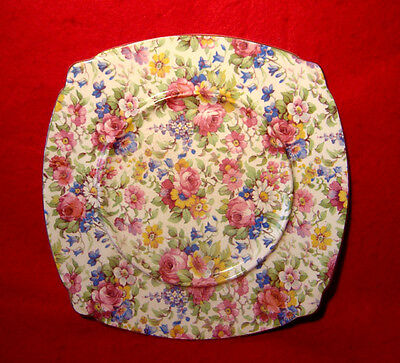 """Vintage Royal Winton *summertime* Square Underplate  7"""" Made In England"""