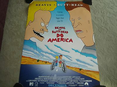 Beavis and Butt-Head Do America Original Rolled Movie Poster w/Mike Judge