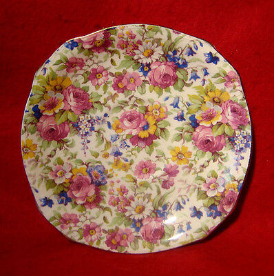 """Vintage Royal Winton *summertime* Saucer 5 3/4"""" Made In England"""