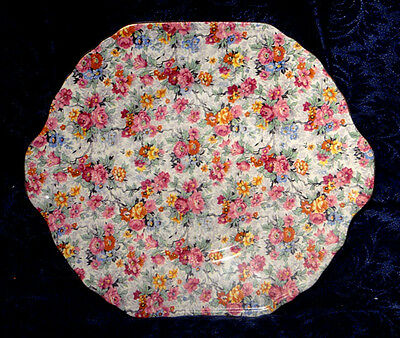 Vintage Lord Nelson *marina*  Cake Plate Roses Chintz Made In England