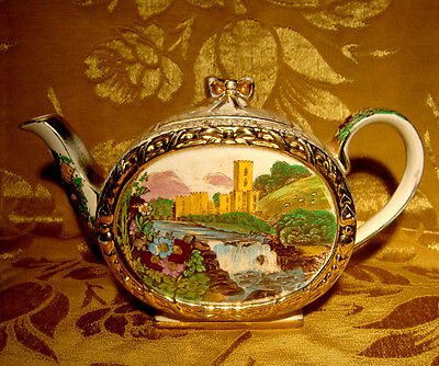 Vintage Sadler *the Abbey Falls* Barrel Shaped Teapot Made In England