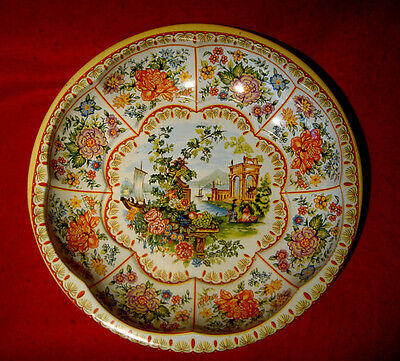Vintage Daher Decorated Tin Bowl Tray Made In England
