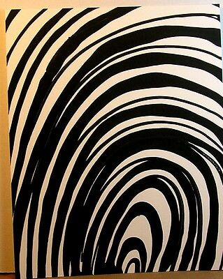 Wholesale Mixed Lot of 12  Abstract Black and White Original  Paintings On Paper