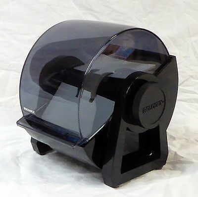 Vintage Rolodex Covered 4 x 2 Card File Made in USA Model DRF 24C Black Plastic