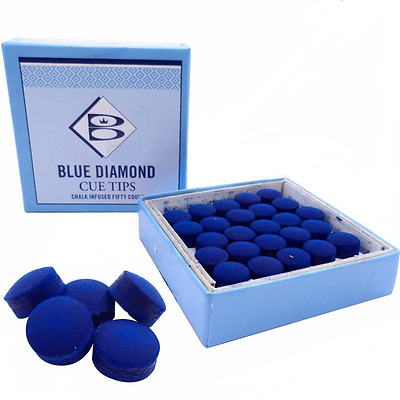 Brunswick Blue Diamond Snooker and  Pool Cue Tips 9mm, 10mm, 11mm