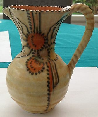 Small Crown Ducal Charlotte Rhead Jug - Damaged And For Repair.
