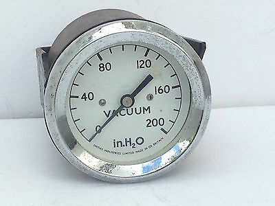 Vintage Smiths Industries Limited Vacuum Gauge Clock