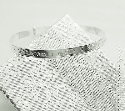 sterling silver baby Twinkle Star rhyme bangle Christening Birthday Baptism