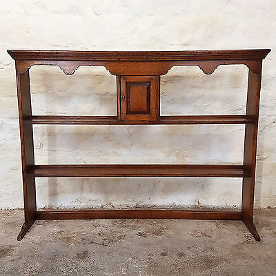 Georgian Style Oak Delft Plate Rack / Welsh Dresser Top - Early C20th (Antique)