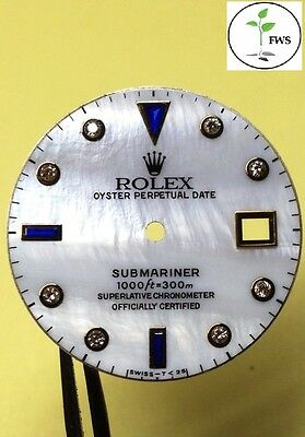 PROFESSIONAL Rolex DIAL Refinish! REAL Mother of PEARL for DateJust & Submariner