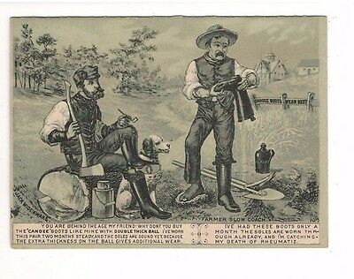c1880's – Candee Rubber Boots 4 Page Ad Folder – Farmers Talking About Boots