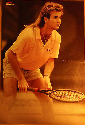 1 german poster ANDRE AGASSI N. SHIRTLESS TENNIS CUTIE ATHLETE BOYS BOY BRAVO