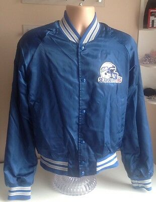 Vintage Seattle Seahawks NFL Jacket by Chalk Line Size Medium