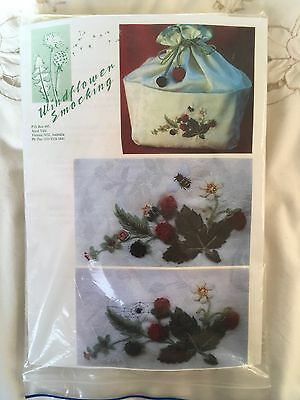 Stumpwork Embroidery Kit from Australia Strawberries and Bee Work Bag