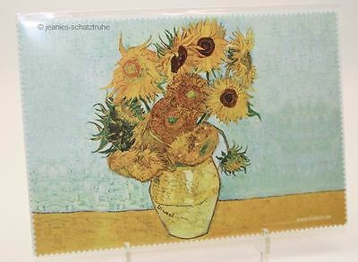 "Glasses Cleaning cloth van Gogh "" Sunflowers"" cleaning cloth Microfibre"