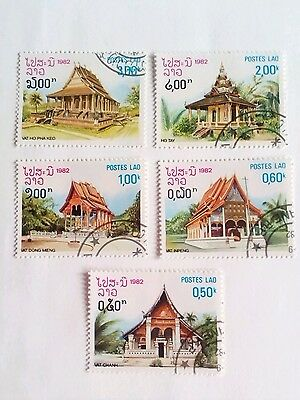 Laos Stamps - 1982 - Churches