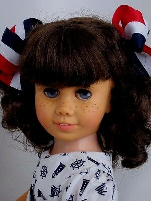 CHATTY CATHY Brunette Pigtail NAUTICAL DRESS SET TALKS FREE SHIPPING