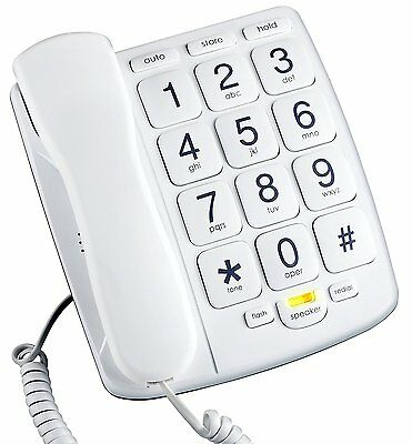 EMERSON EM300WH Big Button Corded Phone Designed For Elderly People