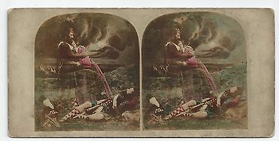 Stereo Stereoview Genre Soldat (The Soldiers Vision) Dream Ghost London 1850er