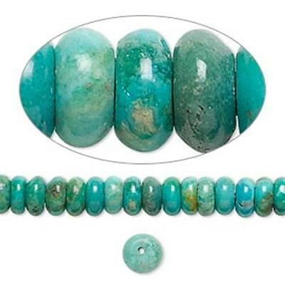 7108 Turquoise assembled beads, rondelles. 12mm 16 inch  *UK EBAY SHOP*