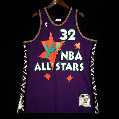 aba578e34093 100% Authentic Shaquille O Neal Mitchell Ness 95 All Star Game Jersey Size  48