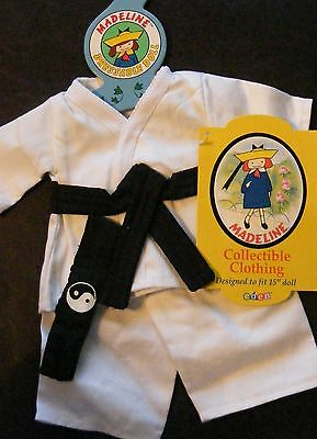 """Madeline Collectible Clothing Designed to Fit 15"""" Doll  (KARATE OUTFIT)"""