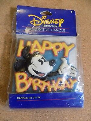 Vintage Mickey Mouse Decorative Candle Disney