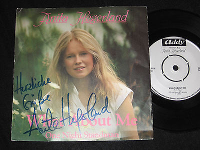 """7"""" Anita Hegerland: What About Me - One Night Sandman Addy + Autogramm Signed!"""