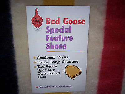 Vintage RED GOOSE SHOES Display Sign, 1950's, Rare, Solid, Advertising